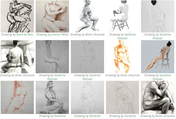 Repertoire of classical Life Drawing poses